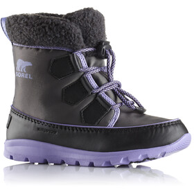 Sorel Whitney Carnival Boots Youth Dark Grey/Paisley Purple